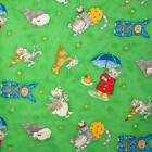 Nursery Rhymes with Dog, Cat, Sheep, Duck, Rabbit, Etc Fabric CHOICE YOUR LENGTH