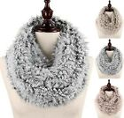 Chic Women's Fuzzy Faux Fur Infinity Scarf, 3 Colors