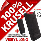 New Krusell Visby GENUINE LEATHER L Long Mobile Pouch Case Cover Sleeve Slim günstig