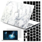 White Marble Painting Macbook Pro 13 15 Retina Case Hard Case Print Cover +Gifts