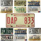 AMERICAN LICENSE PLATE GENUINE USA REG PLATES STATES NUMBER PLATES COLLECTORS