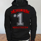 Family Worlds No.1 Brother Best Mens Black Hoodie