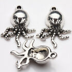 10 20Pcs Tibetan Silver Angry Octopus Charms Bracelets Findings Pendants 20x15MM