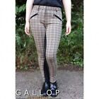 GALLOP JODHPURS WOMENS LADIES CHECKED  - BLACK BROWN SIZES 26 28 30 32 WAIST