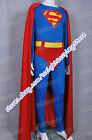 Superman Cosplay Christopher Reeve Costume Jumpsuit Outfit Men Uniform In Stock