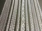 20m of MIXED WHITE Vintage Lace Bridal Wedding Trim Ribbon, CRAFT, Card making