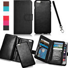 Luxury 9 Cards Wristlet Flip Leather Wallet Strap Case Cover For Cell Phones