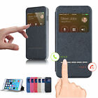 Smart Front Window View Flip PU Leather Case Cover For Apple iPhone 6 & 6 Plus