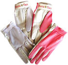 4 Cabretta Leather Golf Gloves Sure Tan Mesh Back Sun Ladies Small Medium Lge.