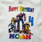 TRANSFORMERS Personalized HAPPY BIRTHDAY T-SHIRT Any Name/Age Super Soft