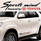 Toyota Sports mind powered by #7 Decal Sticker Graphics Highlander Fortuner I