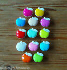 8 - Novelty Buttons - Small  Apple - Baby & Kid's - Knitting/Sewing - Cardmaking