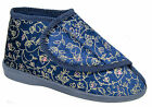 Womens Ladies Boot Slippers / Navy Blue Machine Washable
