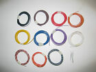 5/10/20 Metre Rolls Hornby/Peco/Railway Equipment Hook up wire cable 7/0.2 1.4A