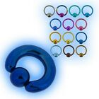2.4mm Grade 23 Titanium BCR Ball Closure Ring Captive Bead 10 heavy gauge Large