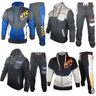 Mens Plain Printed jogging suit Full Tracksuit Hooded Bottoms Top Fleece