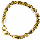 ROPE BRACELET - STAINLESS STEEL 18K GOLD PLATED