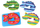 Wooden toy baby gift puzzle set of column series dog car bear Crocodile 4 layers