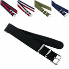US Military Sport Wrist Watch Band New Nylon Fabric Black Green Strap 18/20/22mm