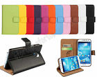 New Fashion Flip Genuine Leather Book Style Wallet Stand Cover Case For Samsung
