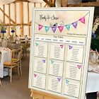 LUXURY Personalised Wedding Table Seating Plan- BUNTING- 4 SIZE OPTIONS