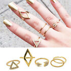 5pcs/set Mid Midi Above Knuckle Open Ring Band Gold Silver Tip Finger Stacking