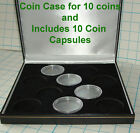 Display Case INC CAPSULES for 10 x 1 oz silver EAGLES. Kookaburras, Kangaroos