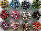 10 Mixed Colourful EUROPEAN CHARM BEADS for Bracelets - Jewellery Making Crafts