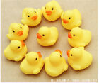 lovely 1/5/10/20Pcs Baby Children Bath Toys Rubber Squeaky Duck Supervalue Gift