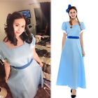 plus size cosplay costumes - Plus Size Peter Pan Wendy Darling Cosplay Costume Blue Blue Fancy Dress US Stock