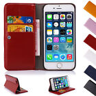 Leather Wallet Case Cover Stand for Apple iPhone 6 6S Plus 5S 5C 5 4 4S Sucker