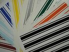 """(4) 2"""" x 80"""" Vinyl Racing Stripes Pinstripe Decals Stickers *25 Colors* Stripes"""