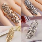 Fashion Crystal Flower Design Long Full Finger Armor Joint Knuckle Hollow Rings