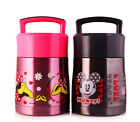 NEW Mickey Mouse Thermal Lunch Box Kids Picnic Insulated Thermos Food Containers