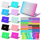 """Rubberized Hard Case for Macbook Pro 13""""15"""" Retina Air 11""""12""""+US Keyboard Cover"""