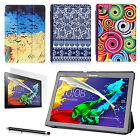 ART THIN LEATHER CASE COVER WITH SCREEN PROTECTOR & PEN FOR LENOVO TAB 2 A10-70