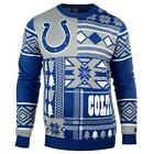Indianapolis Colts Patches Ugly Sweater NFL-Crew Neck NEW-2015 $49.95 USD on eBay