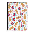 Christmas Gingerbread Xmas Present Universal Tablet 7* Leather Flip Case Cover