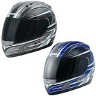 DUCHINNI D701 Full Face Motorcycle Motorbike Helmet Sharp 4* Blue Gun Metal