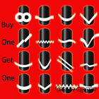 GPE Hot Sale  DIY 17 Style French Manicure Nail Art Tips Tape Sticker Stencil