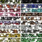 Rhinestone Gems 2mm 3mm 4mm 5mm 6mm Resin Crystal Nail Art 1000 Flat Back