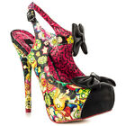 Iron Fist Pin Up Over The Rainbow Platform High Heel Shoes Bright Retro
