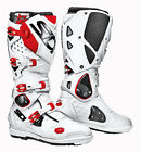 SIDI CROSSFIRE 2 SRS WHITE RED MOTORCYCLE OFF ROAD MOTO-X MX ENDURO BOOTS