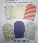Die Cut - VINTAGE CHRISTMAS ENVELOPES - Great for Gift Cards, Lottery, Money