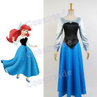 The Little Mermaid Cosplay Costume Ball Gown Ariel Party Dress Uniform Full Set