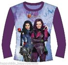 Girls OFFICIAL Disney DESCENDANTS Long Sleeve TOP Cotton CHARACTER T - Shirt