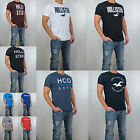 NWT HOLLISTER Men Crew Neck Applique Logo Graphic T Shirt Tee By Abercrombie
