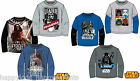 Boys Official STAR WARS CLONE WARS Long Sleeve TOP Cotton T- SHIRT