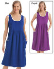 Sleeveless Terry Dress with Pockets Wms 2-XL Terry Dress With Piping