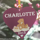 Girls & Boys Christmas Tree Bauble Teddy Decoration Personalised Gift Present